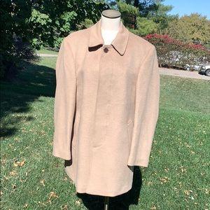 Tan wool men's car coat size 42